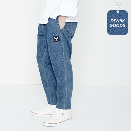 [쉐프앤코] Baggy Denim Chef Pants - Heavy Washed Indigo