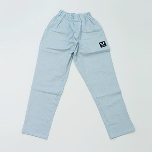 [쉐프앤코] Baggy Denim Chef Pants - Ice Blue Stripe