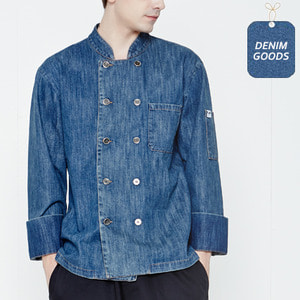 [쉐프앤코] Denim Chef Jacket - Washed Indigo
