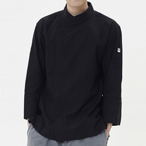 [쉐프앤코] Ultra-Light Chef Jacket - Real Black / Long