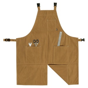 [GONG] New H-Strap Apron - Safari Brown