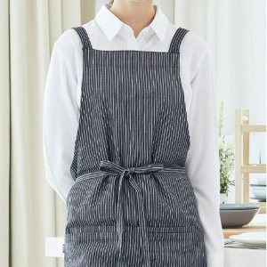 [비더쉐프] Crossover Apron - black stripe