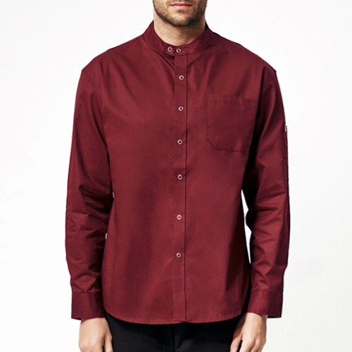 [쉐프앤코] Danish Chef Shirt - Burgundy