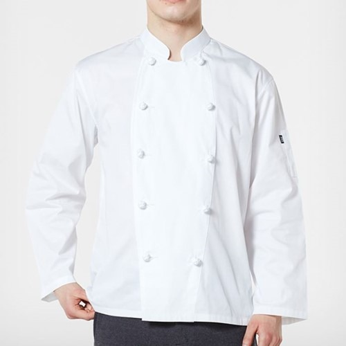 [비더쉐프] Knot Button Chef Jacket - White